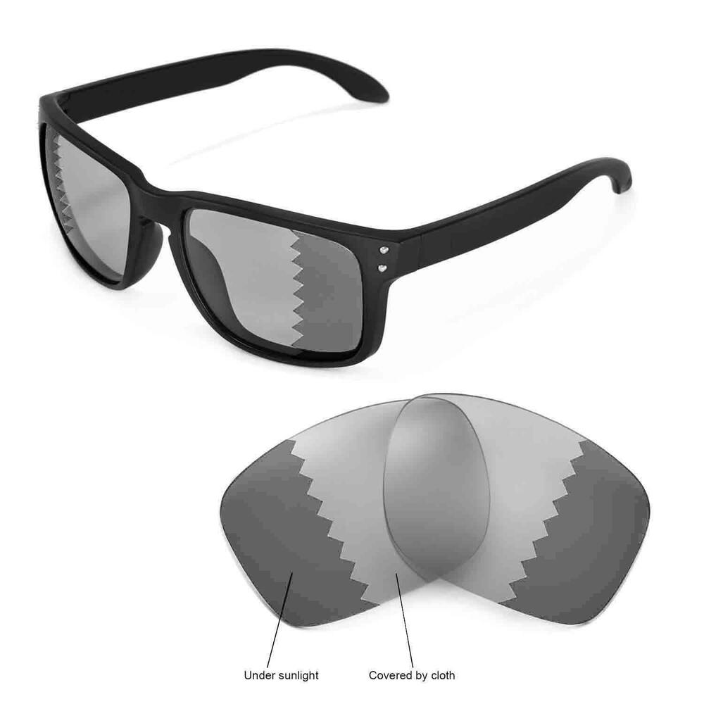 402470fd16b Details about New Walleva Polarized Transition Photochromic Lenses For  Oakley Holbrook