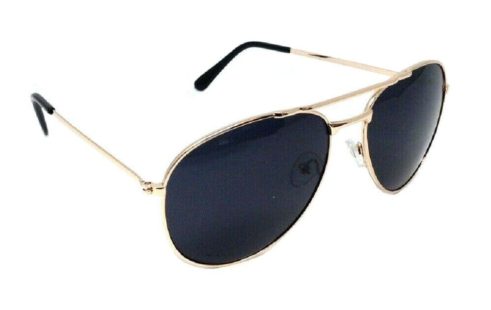 Police Gold Frame Sunglasses : TOP GUN AVIATOR SUNGLASSES RETRO VINTAGE BLACK LENS POLICE ...
