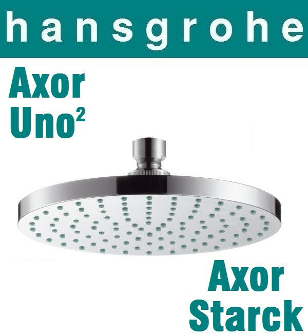 hansgrohe axor starck uno terrano 28484000 plate overhead shower 180mm swivel ebay. Black Bedroom Furniture Sets. Home Design Ideas