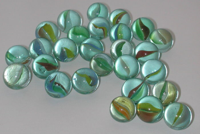 Lot Of 30 Vintage Cats Eye Marbles Ebay