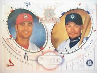 2002 DONRUSS DIAMOND KINGS TIMELINE , PUJOLS & ICHIRO  !! BOX 4