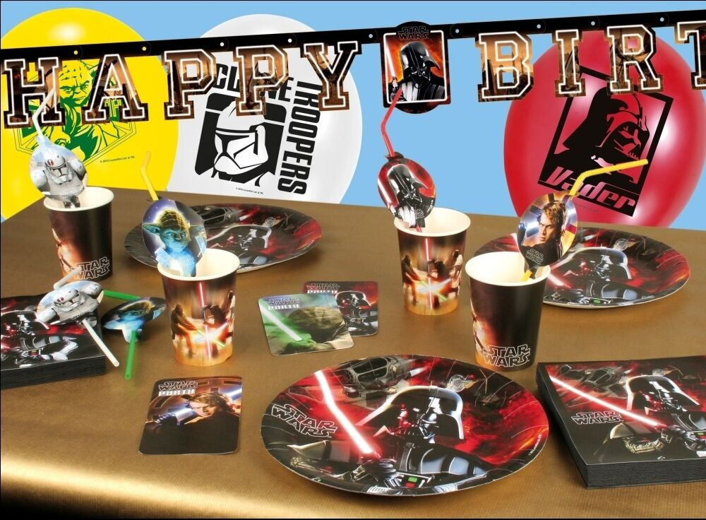 star wars deko kindergeburtstag party deko geburtstag set. Black Bedroom Furniture Sets. Home Design Ideas