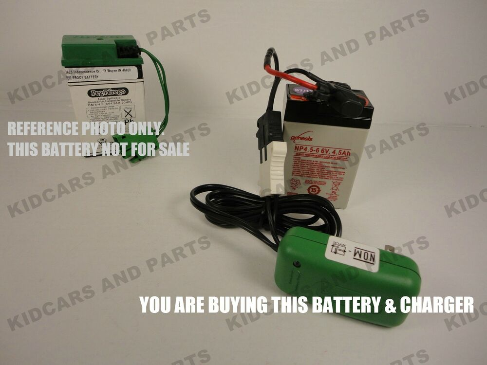 Replacement 6 Volt Battery For Peg Perego Iakb0509 And 6