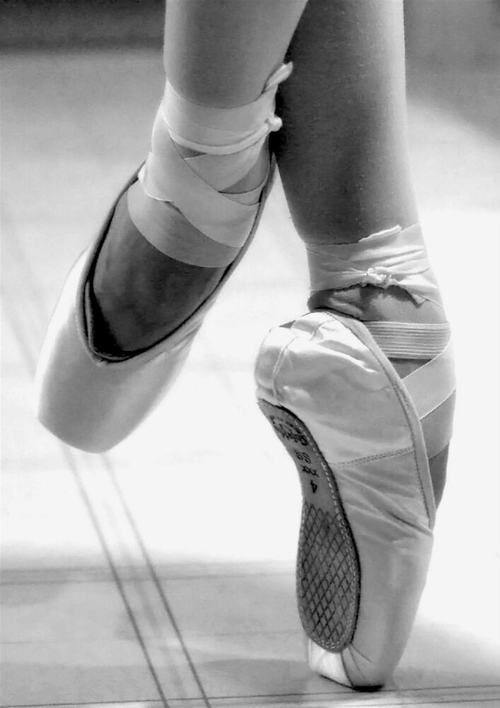 Pointe shoes photography black and white