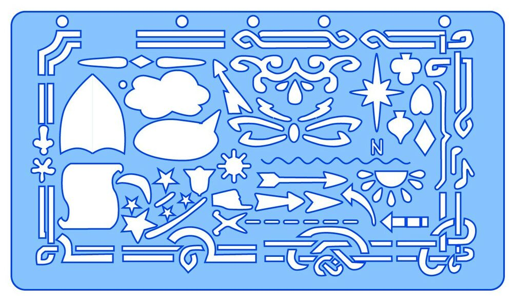 Helix graphics art and crafts template stencil ebay for Arts and crafts stencils craftsman