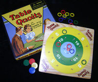 NEW TABLE QUOITS WOODEN FAMILY BOARD GAME. TRADITIONAL 1930's RETRO VINTAGE TOY