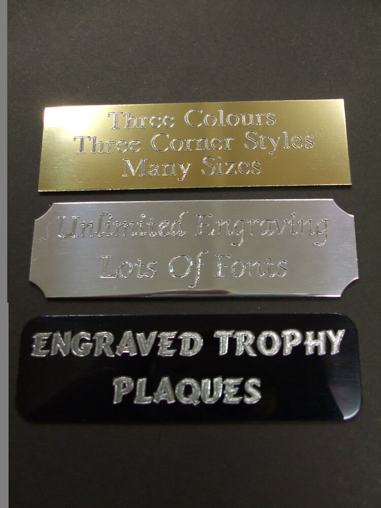 Engraved Self Adhesive Trophy Plaque Plaques Plate Award