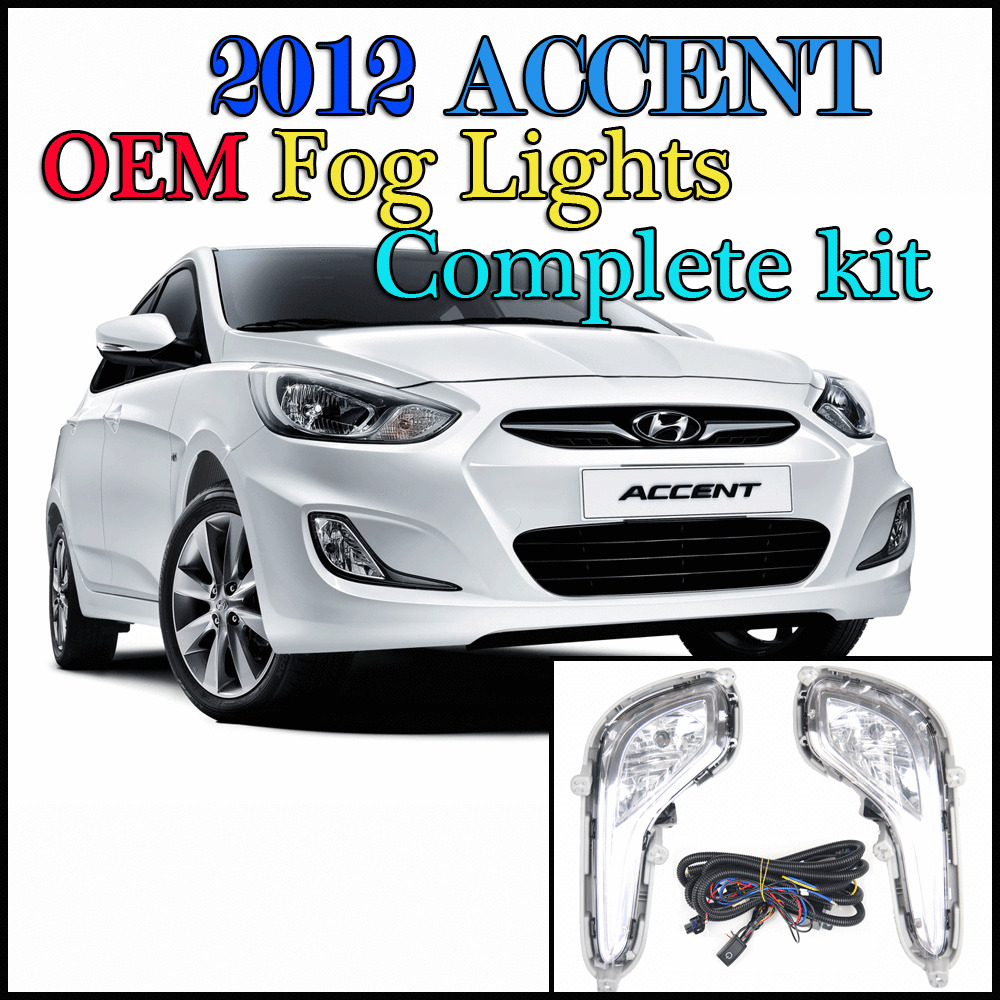 2011 2012 2013 hyundai accent fog light wiring harness switch complete kit ebay. Black Bedroom Furniture Sets. Home Design Ideas