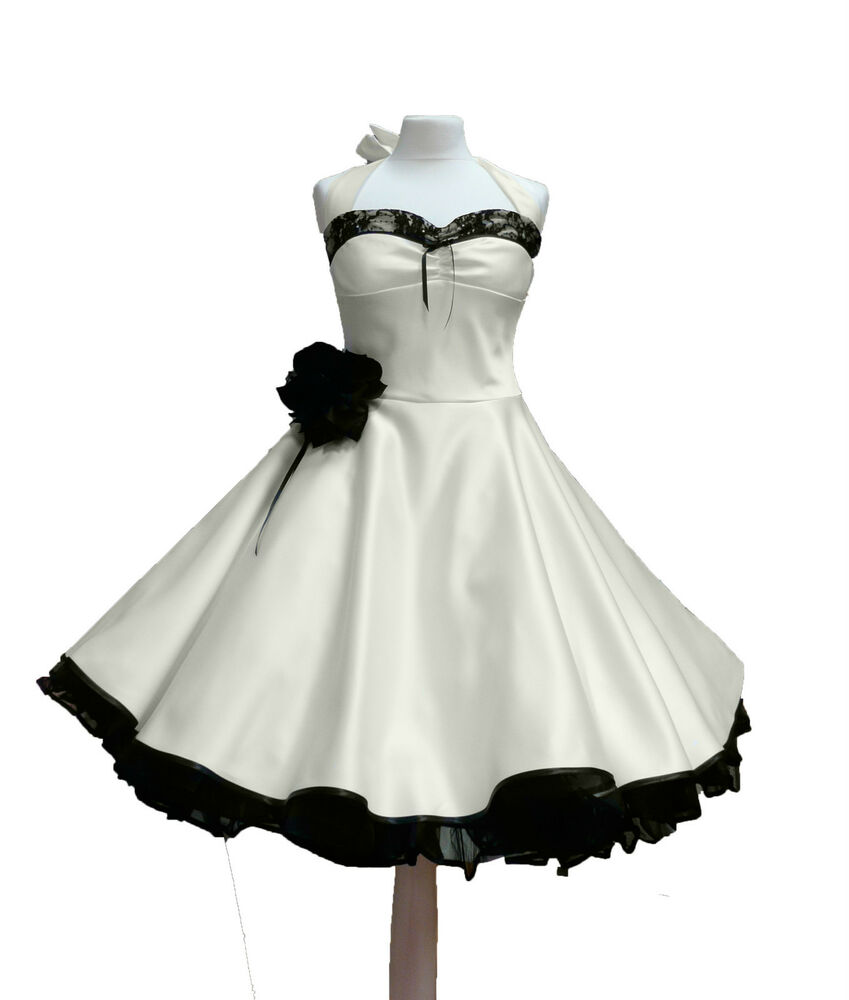 rockabilly brautkleid knielang hochzeitskleid 50er ivora. Black Bedroom Furniture Sets. Home Design Ideas