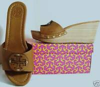 Tory Burch Patti Tan Leather Wedges Shoes 5 to 11