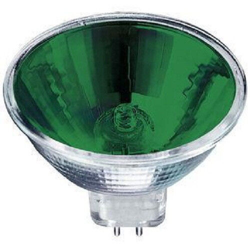 New Premium Green Mr16 12v 50w Exn Halogen Light Bulb