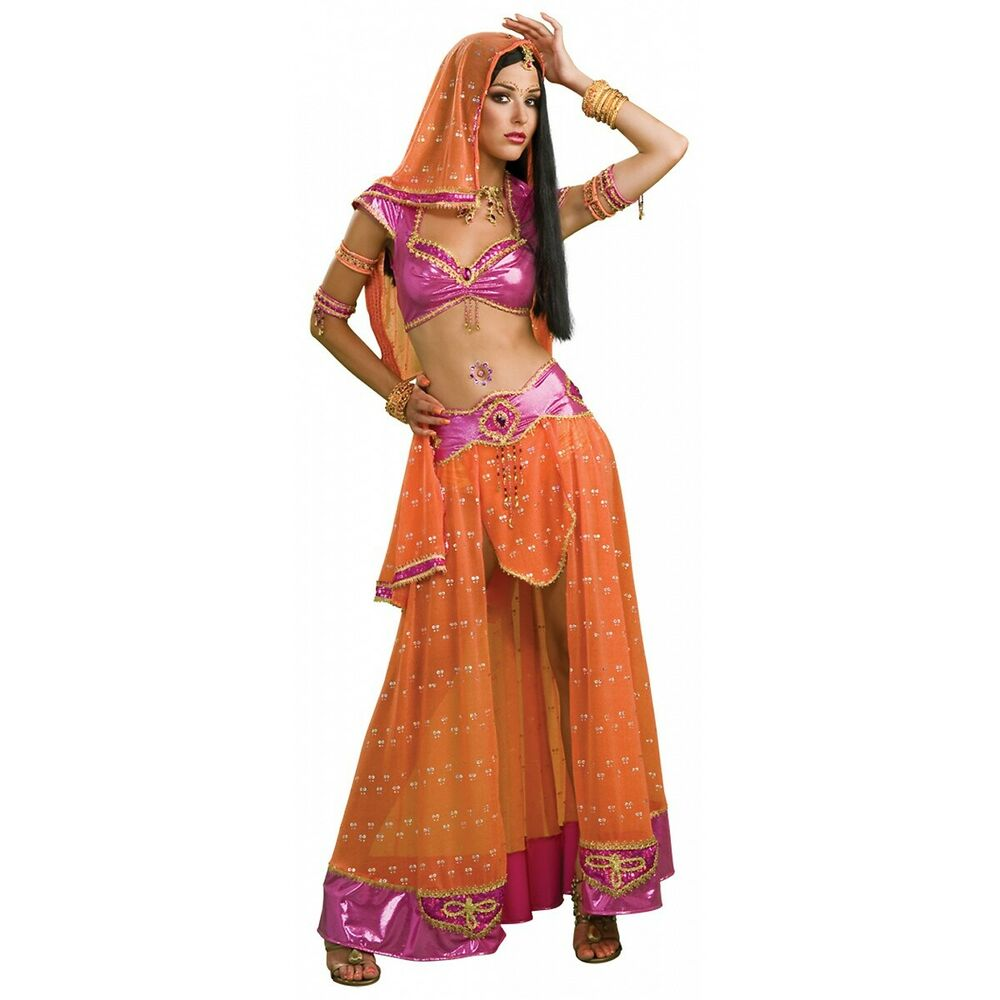 Belly Dancer Costume Adult Womens Sexy Indian Bollywood Halloween Fancy Dress  Ebay-7110