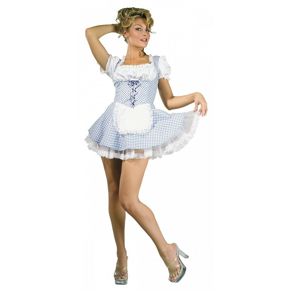 Country Girl Wizard of Oz Adult Sexy Dorothy Halloween Costume Std ...