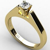 0.20 ct Diamond Vs1 H Solitaire Engagement Ring Yellow Solid Gold 18K carats