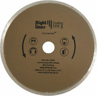 Ceramic Tile Cutting Disc Diamond Blade 180mm x25.4mm for 1in Mounting.
