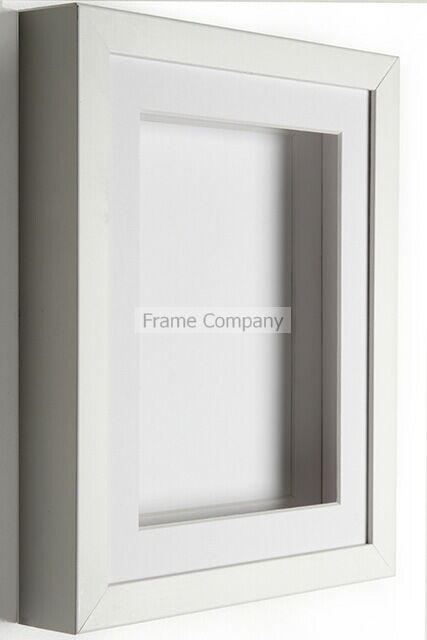 black or white wooden picture photo 3d box frames with mounts by frame company ebay