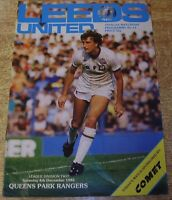 1982/83 DIVISION TWO - LEEDS UNITED v QUEENS PARK RANGERS