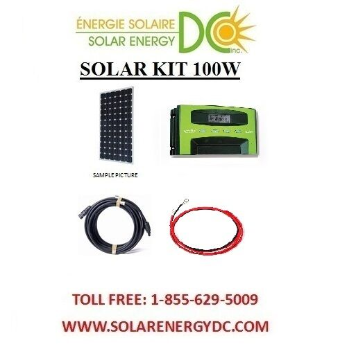 solar panel kit panneau solaire 100 watt mono mppt30a. Black Bedroom Furniture Sets. Home Design Ideas