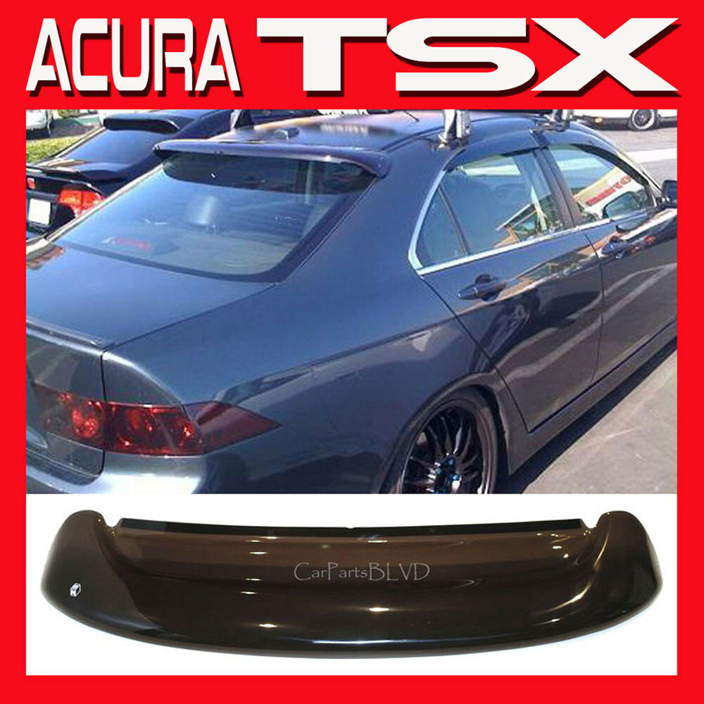 Jdm 2005 acura tsx sedan rear roof window visor sun shade for 05 acura tl rear window visor