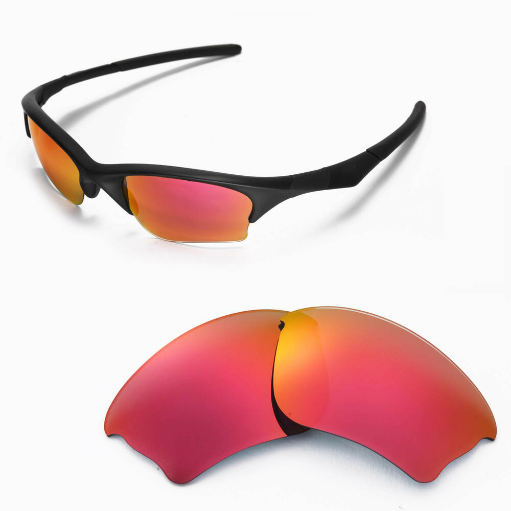Wl Polarized Fire Red Replacement Lenses For Oakley Half