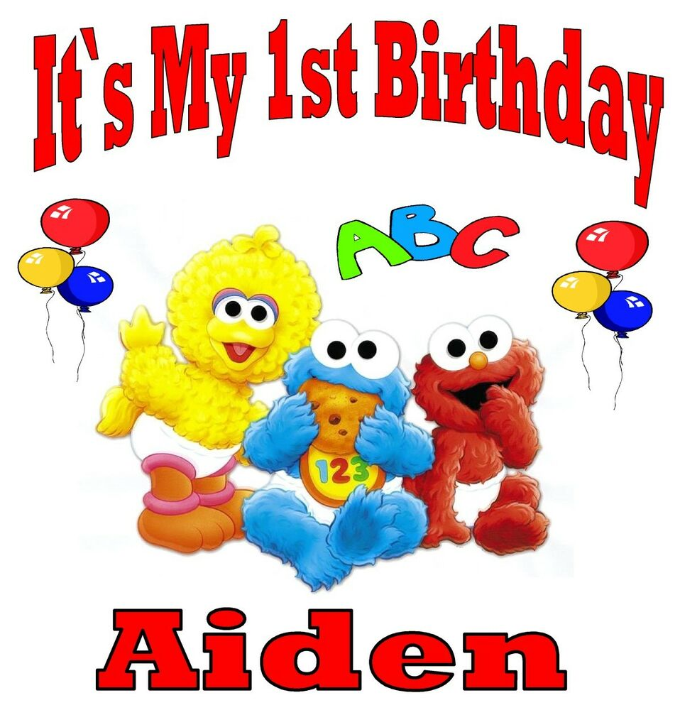 NEW CUSTOM PERSONALIZED BABY SESAME STREET BIRTHDAY T ...