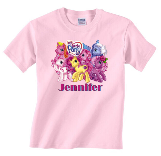 Personalized custom my little pony pink t shirt gift ebay for Custom t shirts personalized gifts