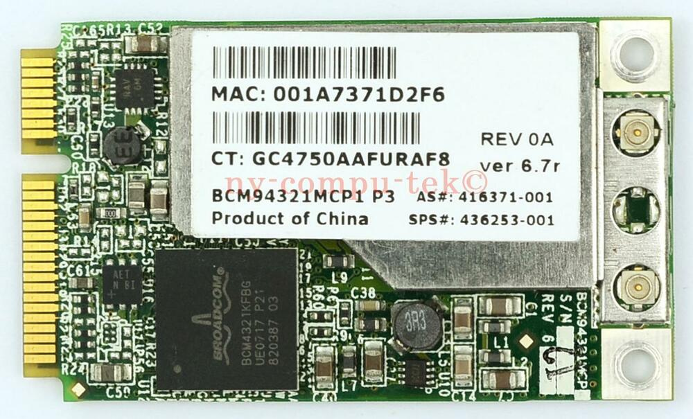 BCM94321MCP1 P3 DRIVERS FOR PC