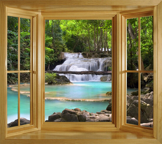 Tropical Thailand Window Illusion Mural Peel Amp Stick Large