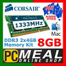 Corsair Mac Memory 8GB RAM DDR3 SODIMM 2 x 4GB 1333MHz Apple MacBook Pro iMac C9