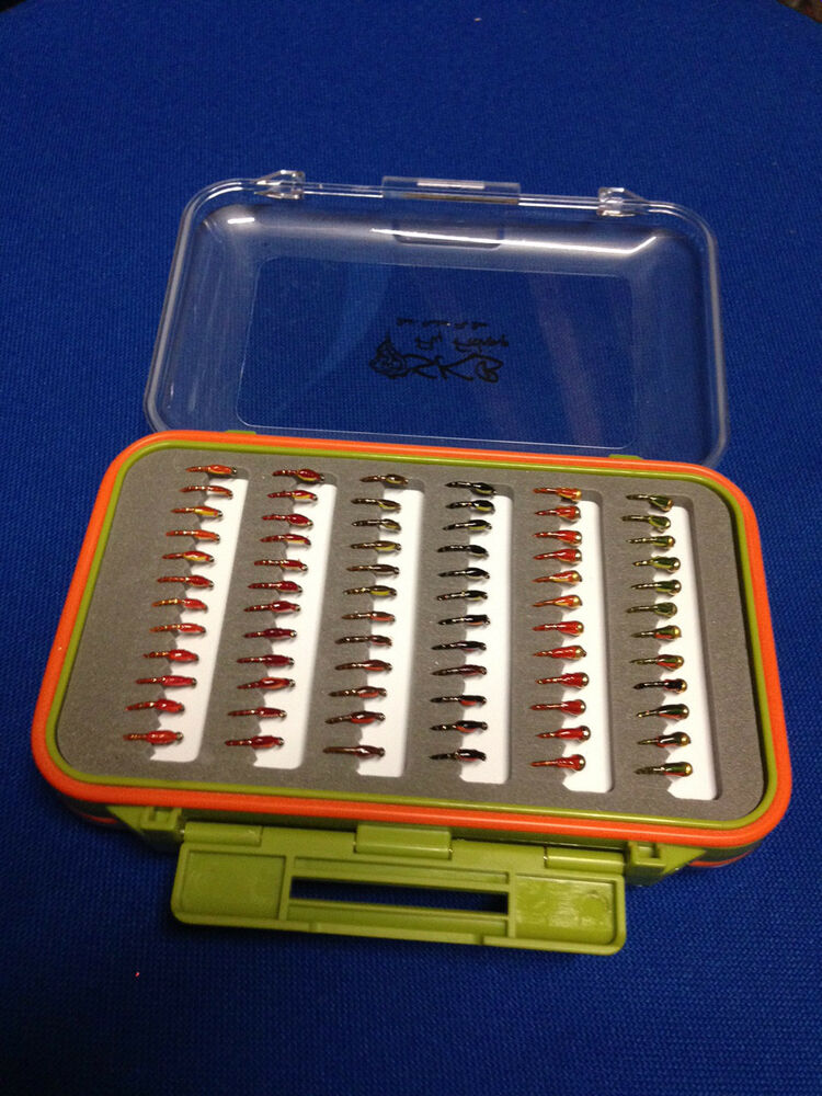 72 epoxy buzzers in fly box trout flies fly fishing for Fly fishing box