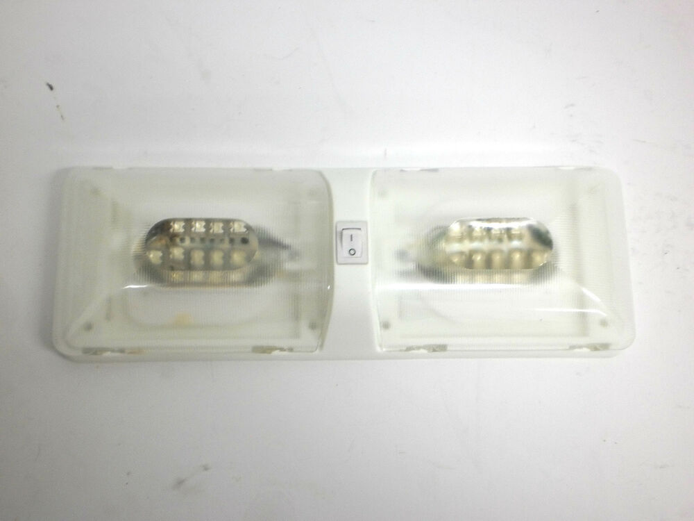 Double Led Cargo Trailer Rv Camper Dome Interior Light Ebay