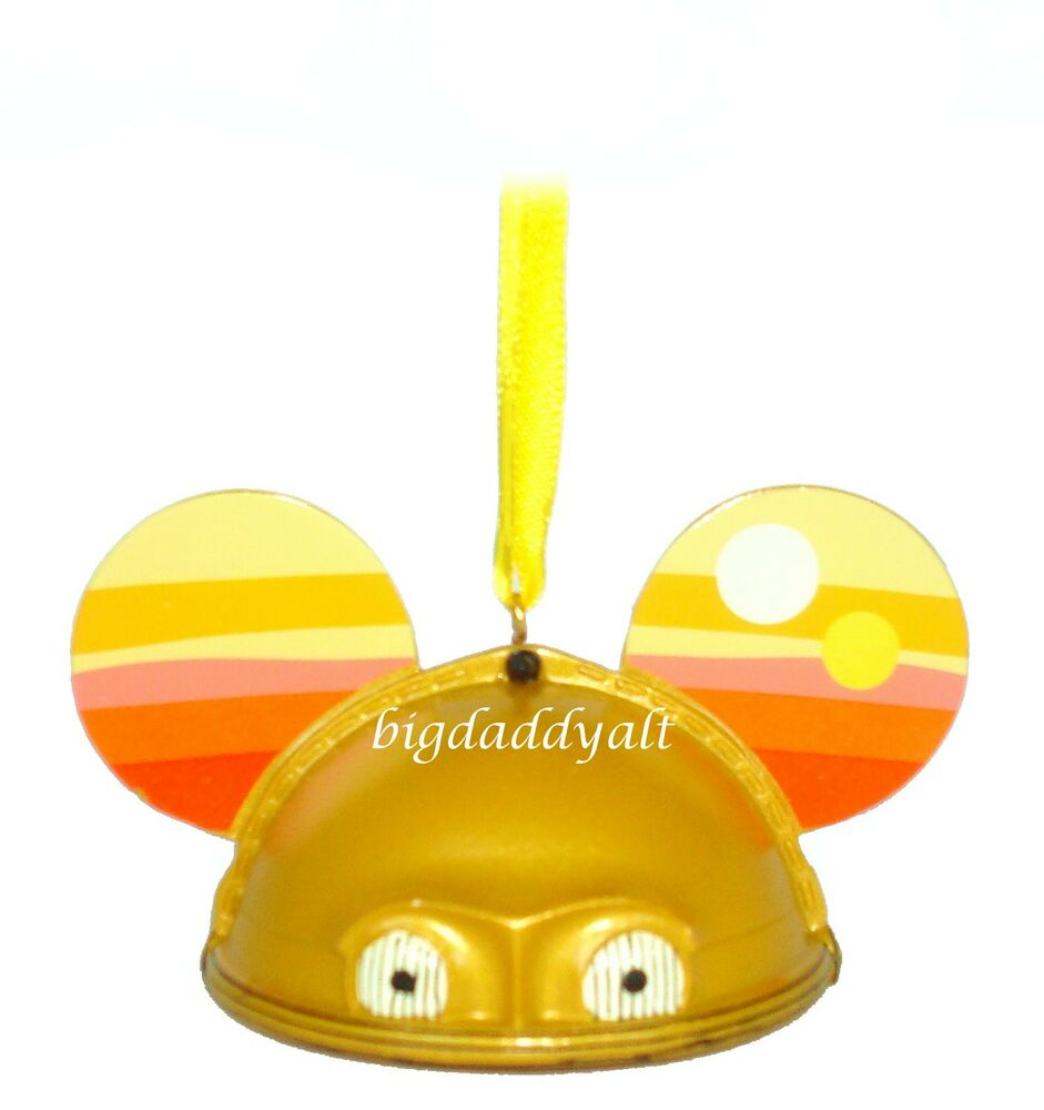 Limited Edition Luxury Christmas Ornaments: Disney Parks Star Wars C3PO Mickey Ear Hat Christmas