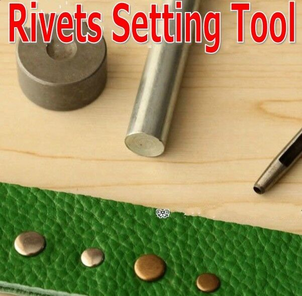 Rivet Punch Set : Rivet installaton kit leather hole punch set setting