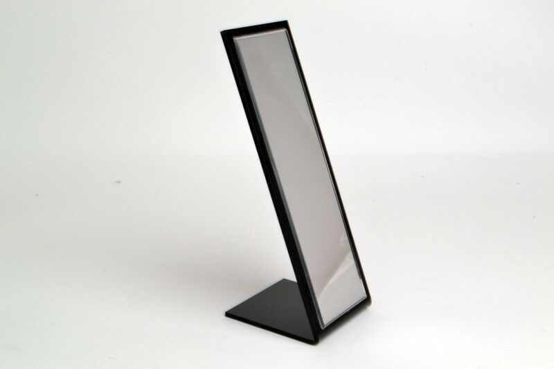 Slick Cosmetic Make Up Table Tabletop Stand Vanity Black Picture Frame Mirror