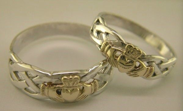 Sterling Silver & 14 Carat Gold Irish Handcrafted Claddagh