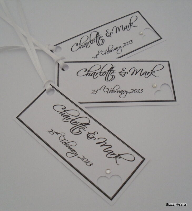 12 PERSONALISED WEDDING / Wishing Tree / Gift Tags / Favours / Name ...