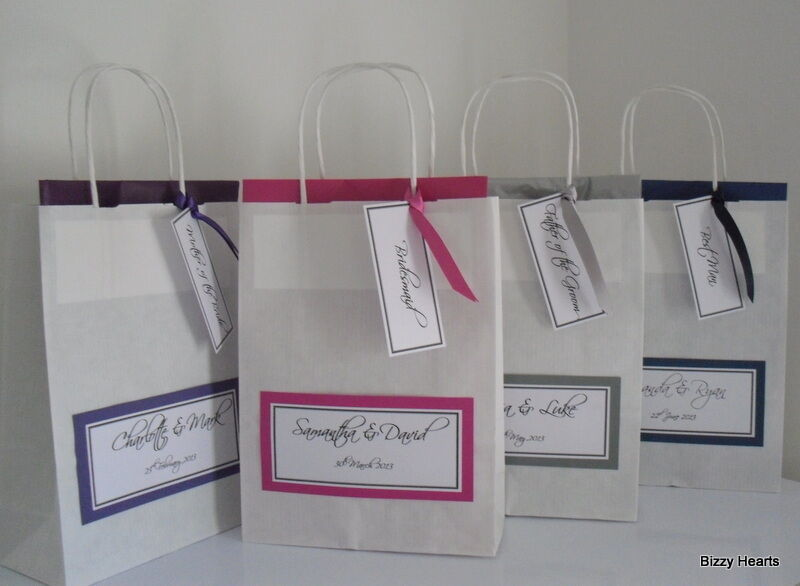 Luxury Wedding Gift Ideas: LUXURY PERSONALISED PAPER WEDDING FAVOUR PARTY GIFT BAG