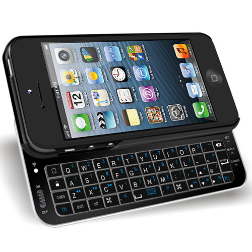 iphone 5 keyboard slide out backlight wireless bluetooth keyboard cover 11004