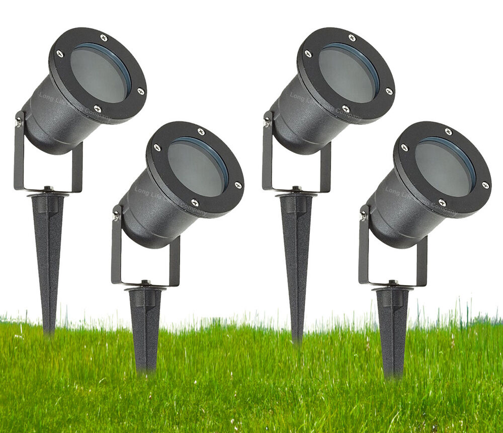 2 Watt 12 Volt Led Round Cabinet Light Fitting Kits Cool: GU10 Outdoor Garden Spike Ground Mount Or Watt Light IP65