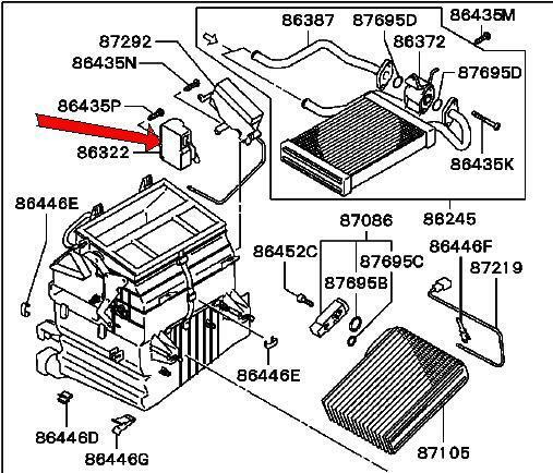 similiar motor for mitsubishi galant heater control schematic keywords 2002 2003 mitsubishi galant heater control motor genuine factory oem