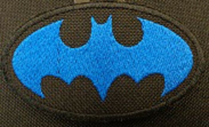 Batman Embroidered Patch Black Blue Made In Usa Ebay