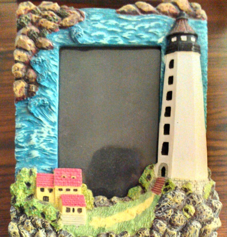 Beach Ocean Sea Rocky Shore Lighthouse Home Office Picture