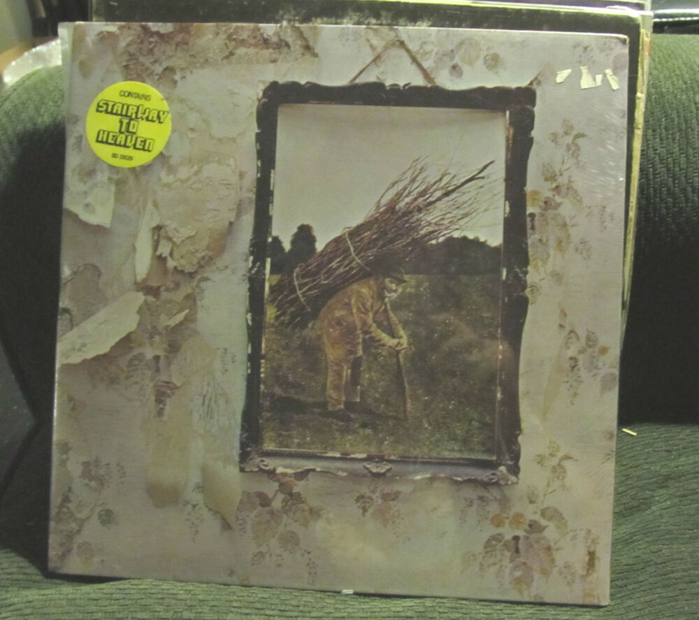 Led Zeppelin Iv Lp Still Factory Sealed With Sticker Zoso