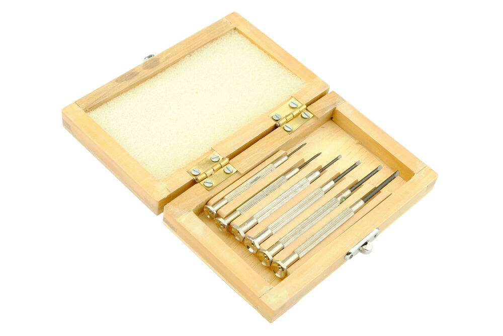 proops set of 6 jewellers jewellery screwdrivers in box quality tools s7055 ebay. Black Bedroom Furniture Sets. Home Design Ideas