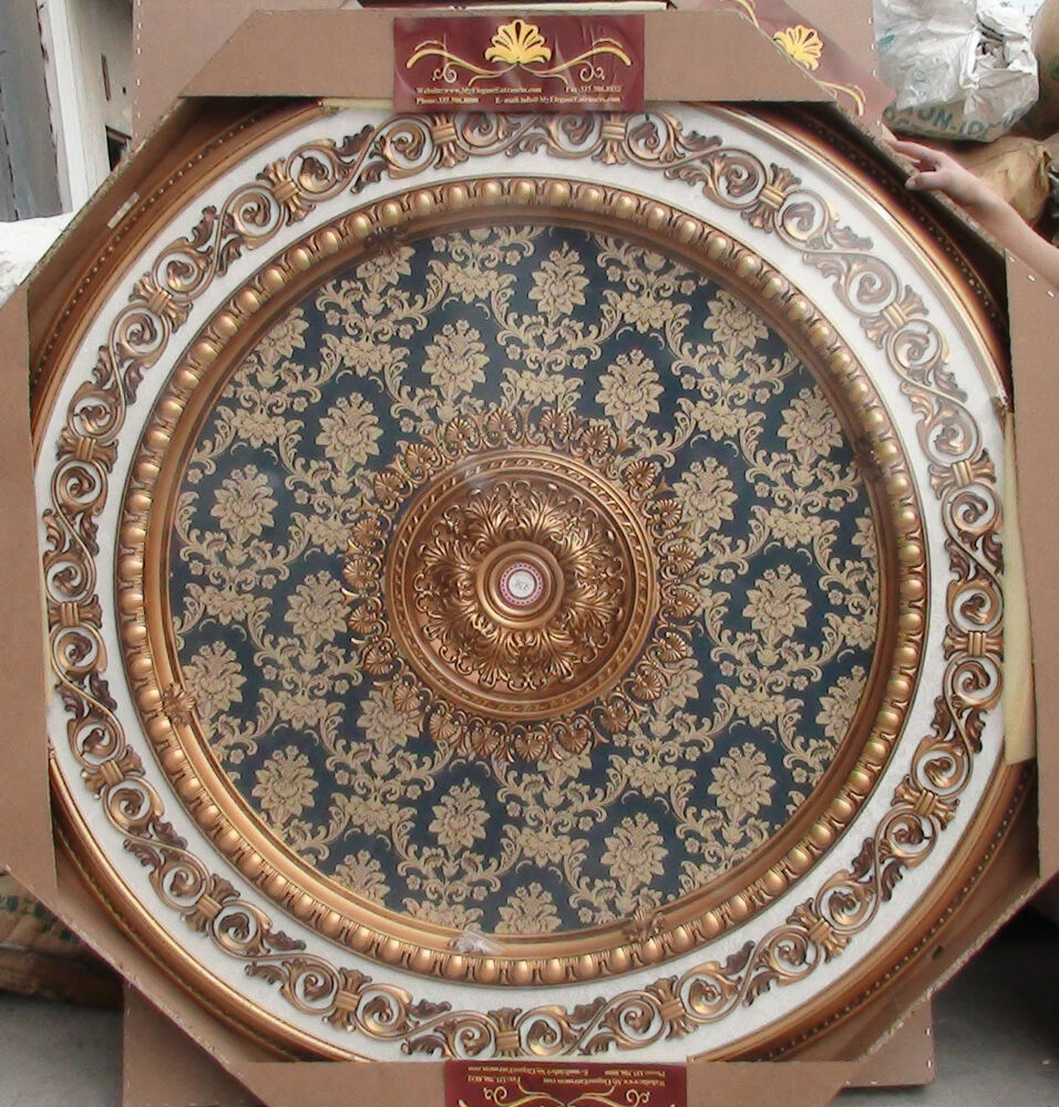 Blue with Gold Ceiling Medallion Round Circle 43 New Home