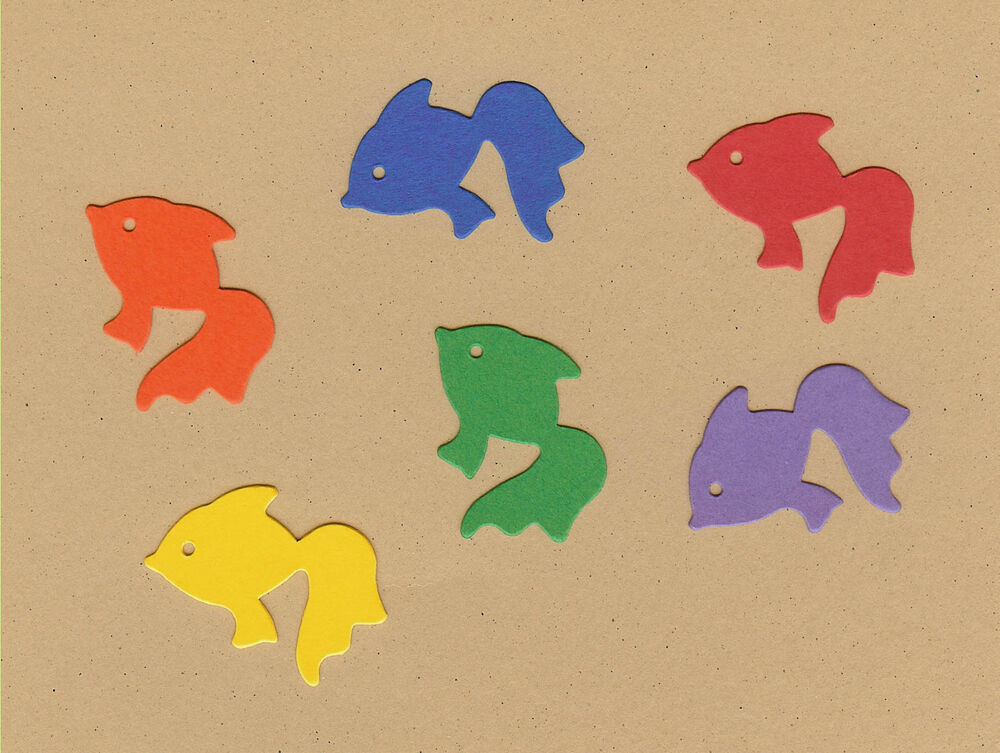 Your Choice Of Colors On Mini Angel Fish Die Cuts