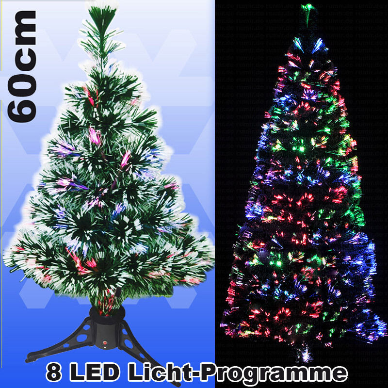 led 60 cm weihnachtsbaum beleuchtet k nstlicher tannenbaum glasfaser christbaum ebay. Black Bedroom Furniture Sets. Home Design Ideas