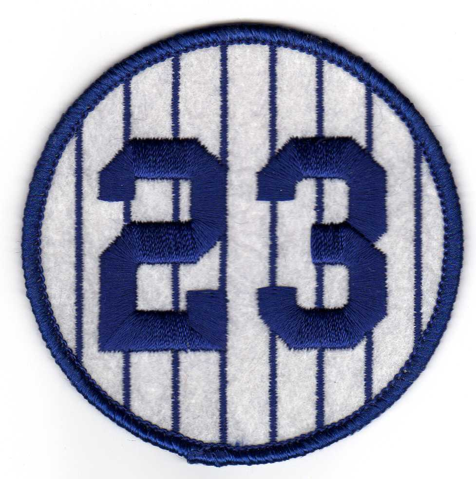 Don Mattingly Yankees Retired 1984 Jersey Number 23 Patch