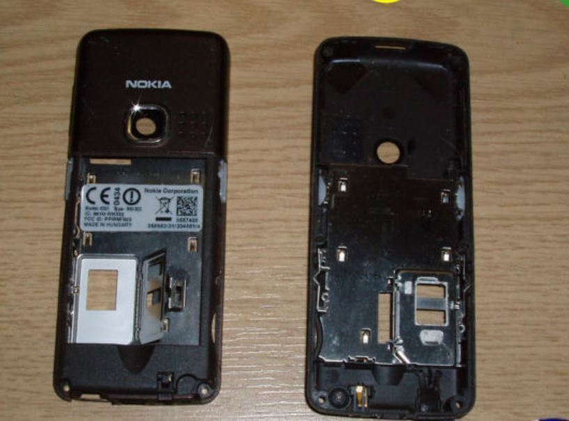 genuine nokia 6300 6301 brown back housing fascia cover. Black Bedroom Furniture Sets. Home Design Ideas