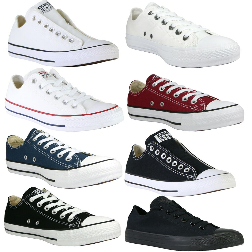 converse chucks all star ox canvas schuhe sneaker diverse farben. Black Bedroom Furniture Sets. Home Design Ideas